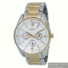 FOSSIL Uhr Brenna BQ1072 sportliche Damen Multifunktion Armbanduhr bicolor gold