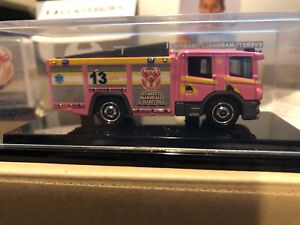 Matchbox Scania Pink Fire engine Produced For Everett Marshall Charities Event