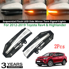 2x For Toyota Rav4&Highlander 15-18 Sequential Flash LED Side Mirror Turn Signal