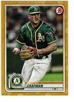 Matt Chapman 2020 Bowman 5x7 Gold #73 /10 Athletics