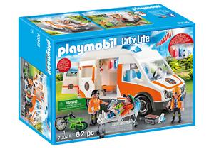 Playmobil City Life - 70049 Rettungswagen mit Licht und Sound - Neu & OVP