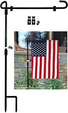 Maxzone Garden Flag Stand Banner Flagpole, Black Wrought Iron Yard Garden Flag