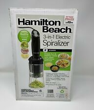 HAMILTON BEACH ELECTRIC 3-IN-1 SPIRALIZER SLICER & GRATER