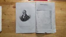 1835 Ritratto con Estratto: Conte Vincenzo Dandolo (Venezia-Varese) Scienziato