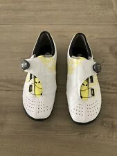 CUSTOM Bont Helix Carbon Shoes, EU 47 US 12. Yellow/White.
