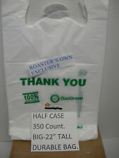 """350ct.100% OXO- BIODEGRADABLE PLASTIC BAG RECYCLABLE ECO FRIENDLY TAKE OUT 22"""""""