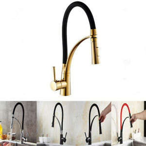 Pull Out/Down Kitchen Faucet Single Handle 360 Rotation Sink Mixer Spring Tap