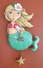 SHELLEY MERMAID Designer Wall Clock by Allen Designs. As New