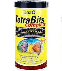 Tetra Bits Complete Fish Food 300ml All Discus Tropical Color Growth Flake 93g