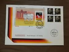 Envelop Todestag Konrad Adenauer - Blok Bolivia ( J.F. Kennedy ) + 4 Zegels Dld