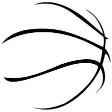 BASKETBALL ABSTRACT ART,BOYS,SPORT, CAR DECAL STICKER