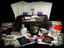 HUGE WITCHES STARTER & ALTAR SET Herb kit Wicca Pagan Wand Chalice Cauldron