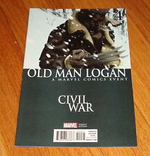 2016 Old Man Logan #4 Civil War Variant Edition 1st Print Wolverine