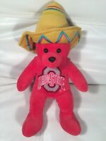 "Ohio State Bear 2003 Tostitos Fiesta Bowl National Championship Plush 16"""