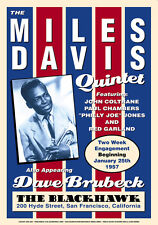 Jazz Great: Miles Davis at The BlackHawk Club Concert Poster Circa 1959