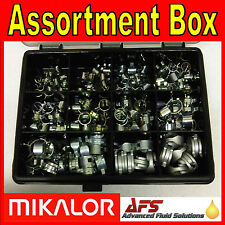 Mikalor 111 Piece Constant Tension SPRING BAND TYPE Fuel Hose Clip KIT Silicone