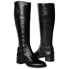 Etienne AIGNER COSTA SIGNATURE CREST BLACK ICONIC TALL RIDING BOOTS I LOVE SHOES