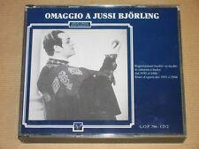 2 CD / OMAGGIO A JUSSI BJORLING / 1930 A 1944 / TRES BON ETAT