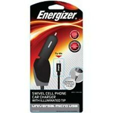 NEW ENERGIZER ENG-CLA002 CELL PHONE MICRO USB CAR SWIVEL CHARGER  3482817