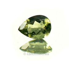 0.407cts pear 4.5x6.5mm moldavite faceted cutted gem #BRUS628