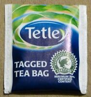 Tetley Tea Bags x 50 Tetley Teabags - Individually Wrapped and Tagged