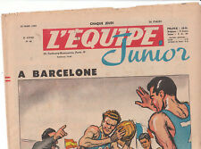L'Equipe Junior n°42 - mars 1952. Basket. TB