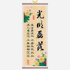La calligrafia cinese appeso a parete Scroll-GUANG Ming LEI Luo (APERTI + SOPRA-BOARD