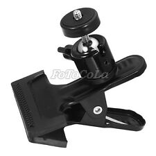 Mullti-function clamp clip w/ ball head f photo studio backdrop flash heavy duty