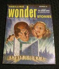 1952 Dec THRILLING WONDER STORIES Pulp Magazine v.40 #3 VG Kendell Crossan