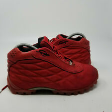 New listing FUBU Red Suede Mid Lace Up Athletic Basketball Shoes Sneaker Men Size 8