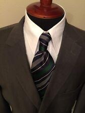 Hugo Boss Men's Blazer Coat Size 44L Gray 3 Buttons Wool Double Vent Suit Jacket