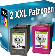 SET 2x DRUCKER PATRONEN für HP 901 XL OFFICEJET J4580 J4600 J4624 J4660 J4680C