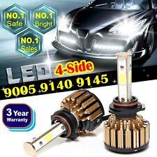Pair 9005 HB3 9145 9140 H10 4-Side CREE LED Headlight Fog Lights Bulbs Kit 6000K