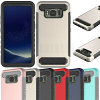 Hybrid Hard Armor Case Protective Rubber Phone Cover Fr Samsung Galaxy S8 Active