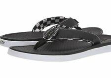 NWT Vans ULTRA CUSH SEA ESTA FLIP FLOPS Walking Sandals BLACK WHITE Mens 8-13