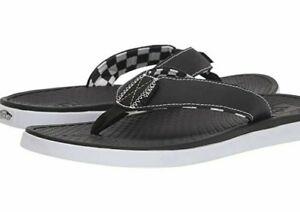 NWT Vans ULTRA CUSH SEA ESTA FLIP FLOPS Walking Sandals BLACK WHITE Mens 7-13