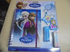 gift set of  disney frozen note book 2xrubber wristbands and 2 rubber key rings