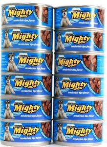 12 Cans Purina Mighty Dog 5.5 Oz Tenderloin Tips Flavor In Gravy Wet Dog Food