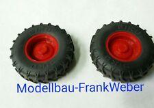 6754 Räder hinten  Reifen Felgen Paar  Fendt 930 Infrarot  Siku control 1 :  32
