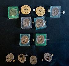 Konvolut 12 Uhrwerke Handaufzug 17 Jewels 2 Zifferblätter Swiss Made
