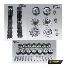 Torro 1:16 Metall Leit- Antriebsräder, Laufrollen und Ketten für Leopard 2A6