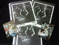 Matt Sorum Guns N' Roses Autographed Promo Photos Zildjian Magazine 4 Autographs