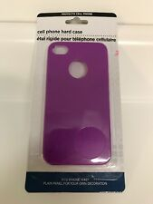 New iPhone 4/4s Hard Case-Purple-Free US Shipping