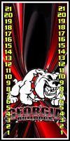 Georgia Bulldogs 022 cornhole scoreboard score keeper w/ clips Made in the USA
