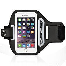 "iPhone 6/6S 4.7"" White Lycra Armband Running Reflective CreditCard Holder"