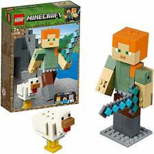 LEGO 21149 Minecraft Alex Chicken Action Figures Building Set, Collectible Set