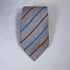 Hermes 100% Silk Tie Multi Colored Stripes- Made in France