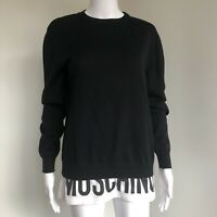 Moschino Couture! Size 38IT 34FR 4US 6GB Jumper Sweater Black Logo F2018 NWT