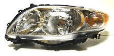 Toyota Corolla USA 09-13 Left Front head lamp lights for CE/LE models CHROME ***