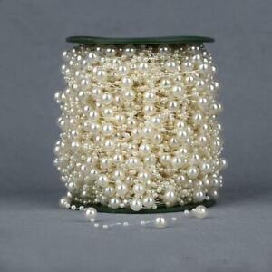 Pearl Garland 5m Acrylic Beads String Garland Wedding Table Decor Bouquet Hair